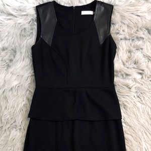Calvin Klein Black Peplum Dress Size 2 (medium)